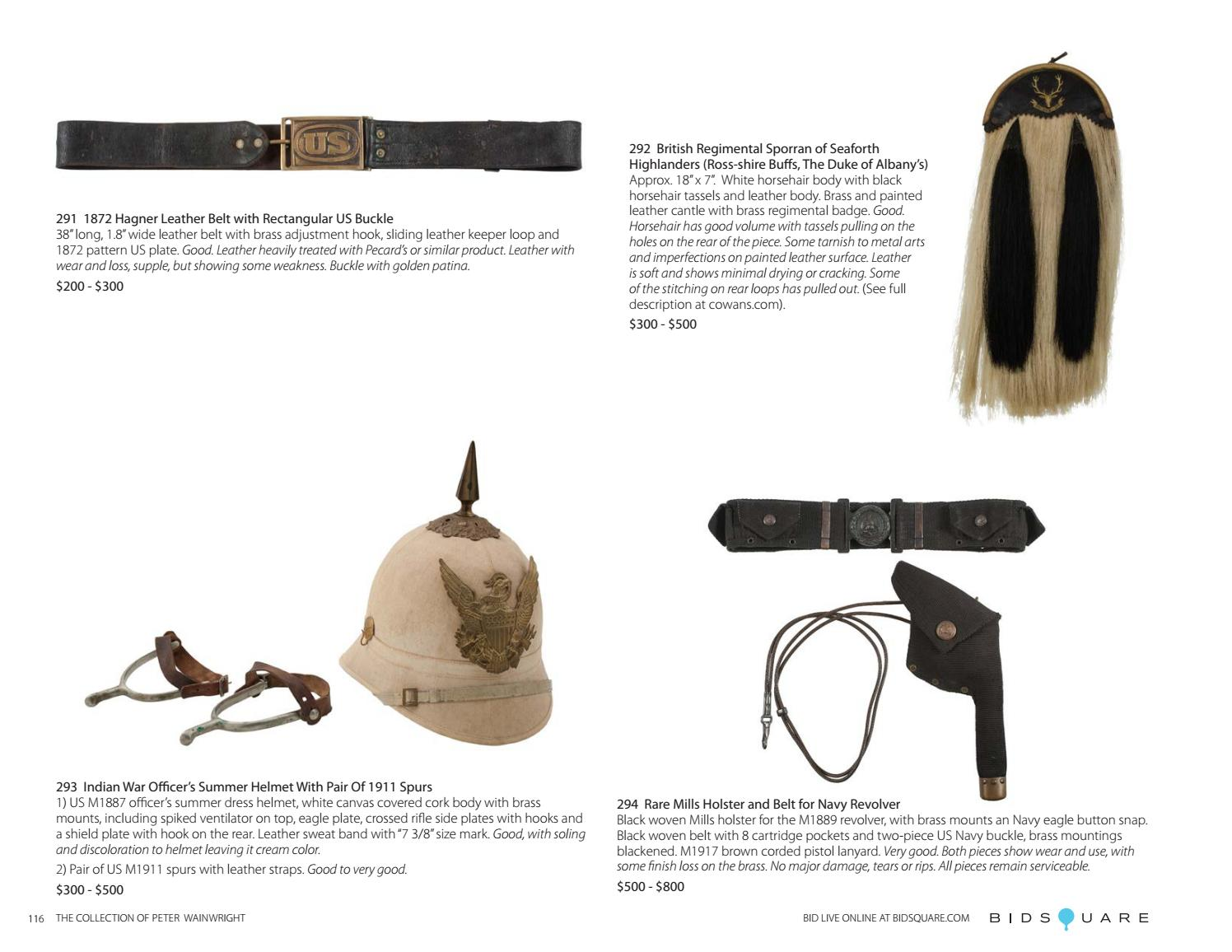 The Historic Firearms and Militaria Collection of Peter Wainwright