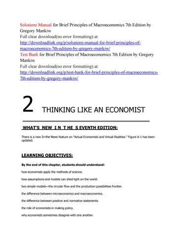 Solutions Manual For Brief Principles Of Macroeconomics 7th