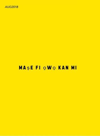 Page 32 of Mase Fi Owo Kan Mi