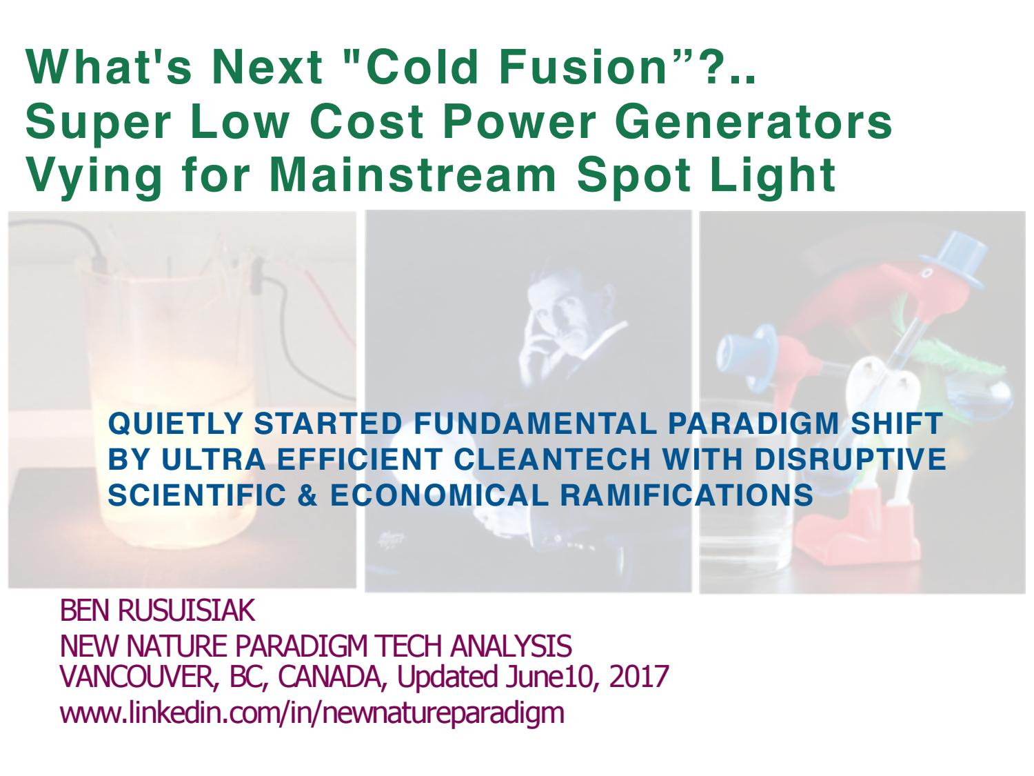 What S Next Cold Fusion Super Low Cost Power