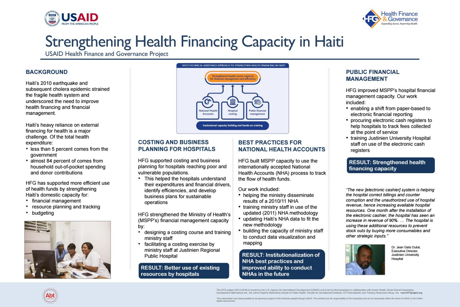Strengthening Health Financing Capacity In Haiti By Health Finance Governance Project Issuu