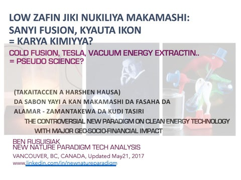 Low zafin jiki nukiliya makamashi: Sanyi fusion, Kyauta ikon = Karya