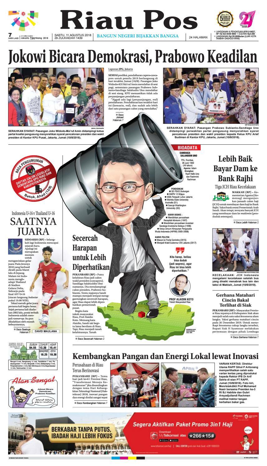 Riau Pos Edisi Sabtu 2018 08 11 By Issuu Produk Ukm Bumn Atasan Tenun Pria Lengan Pendek Hijau B