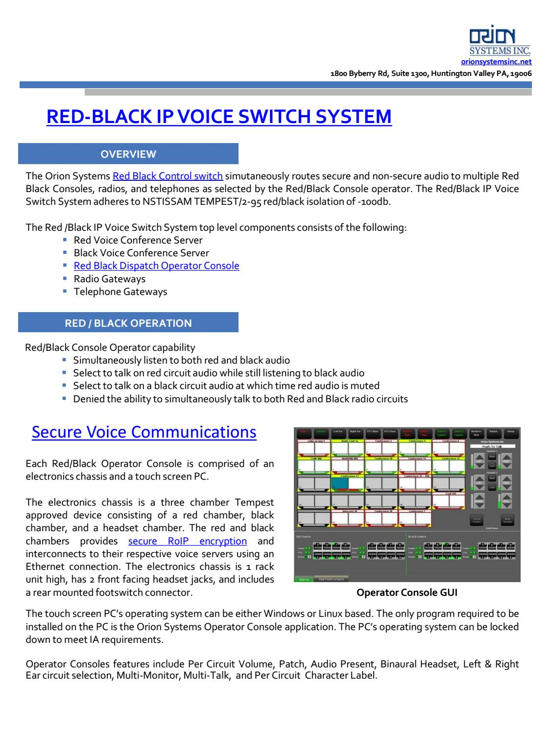 Red Black Ip Voice Switch System By E Xplorations Issuu Audio Over Circuit