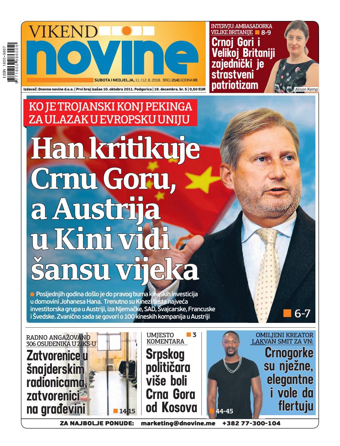 7440e1bbed2 Dnevne novine 11-12. avgust 2018. by Dnevne Novine - issuu