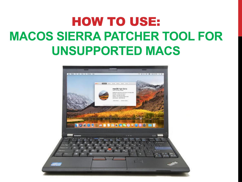 Download mac os high sierra patcher   Peatix