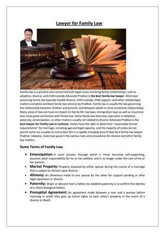 Lawyer For Family Law By Prabhaat Lawyer Issuu