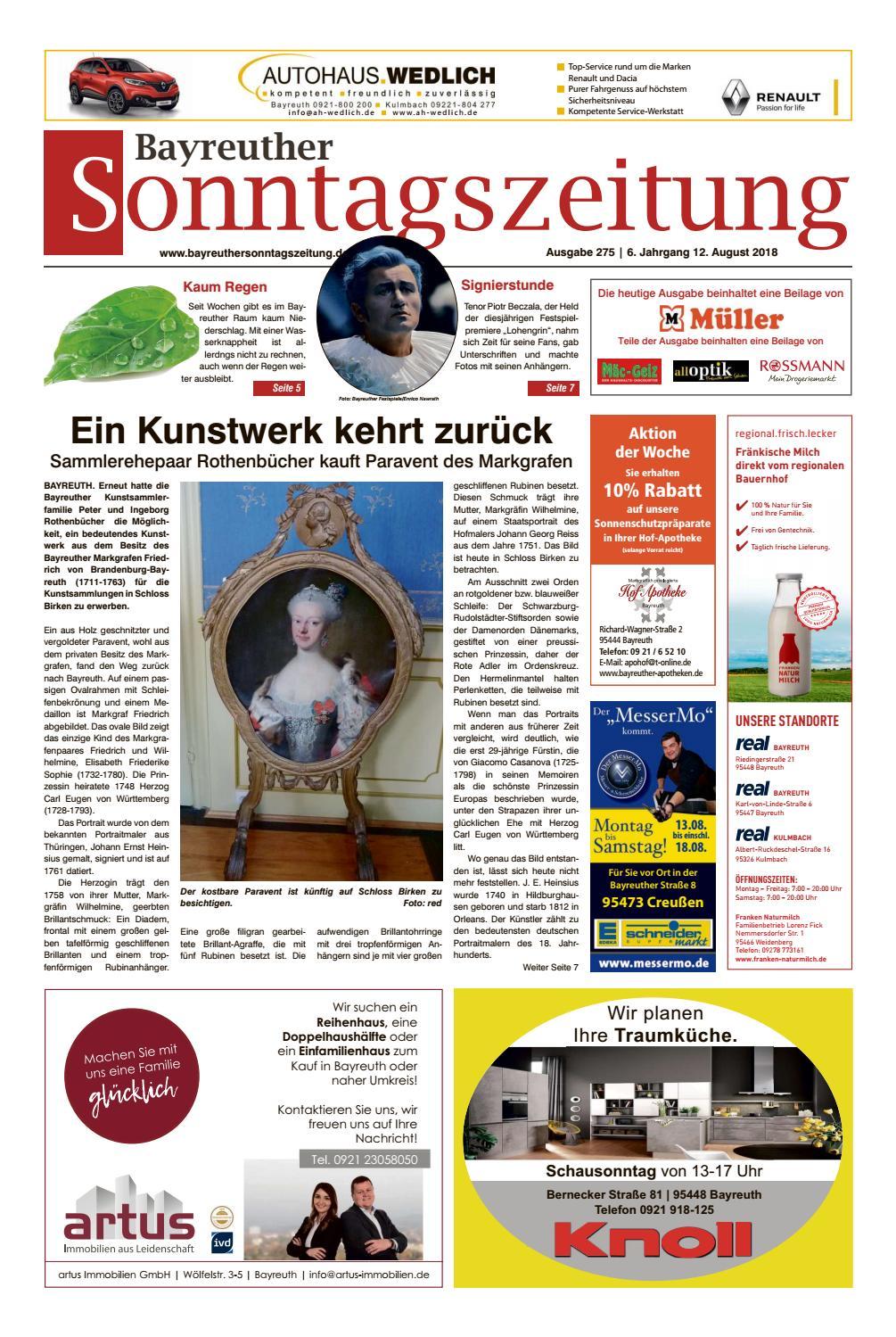 20118-08-12 Bayreuther Sonntagszeitung by Bayreuther Sonntagszeitung ...