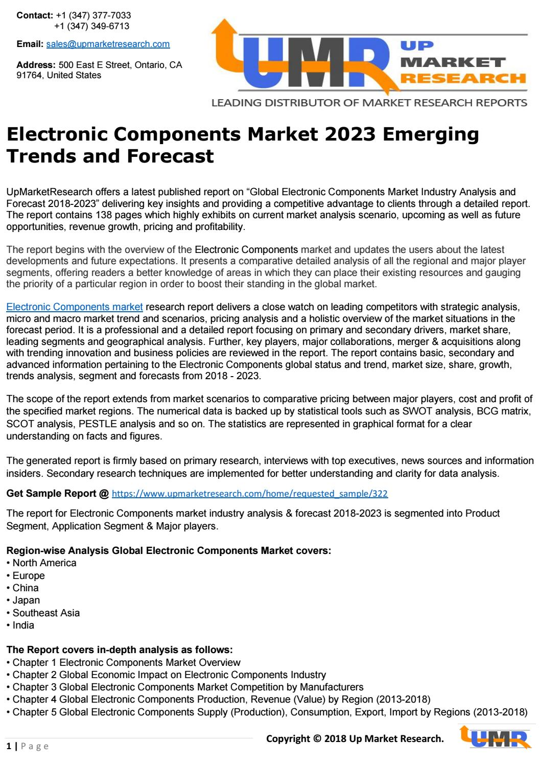 Electronic Components Market 2023 Emerging Trends and Forecast by ...