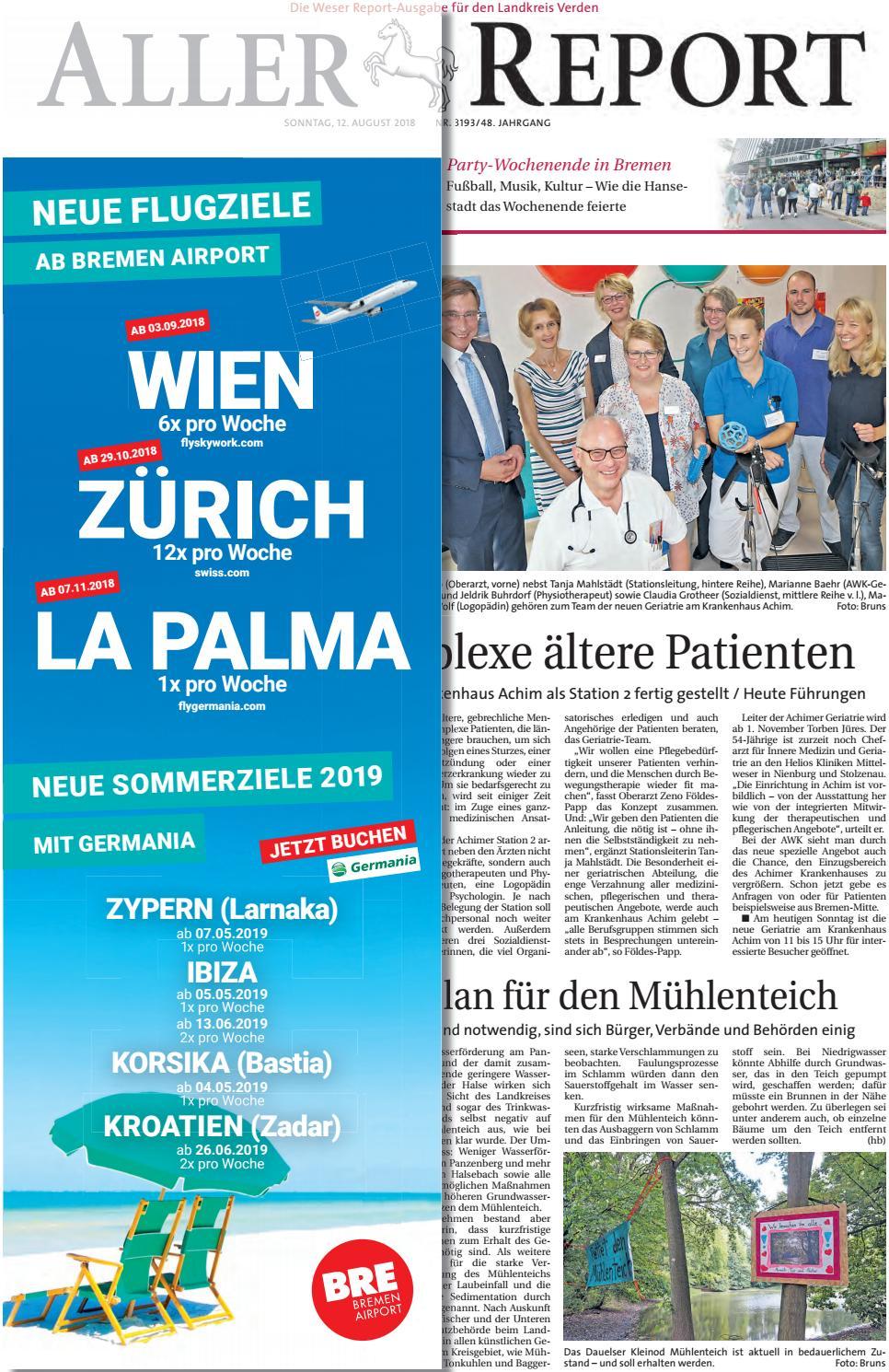 Aller Report vom 12.08.2018 by KPS Verlagsgesellschaft mbH - issuu