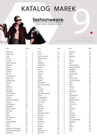 ce351b03ab0e96 Katalog marek Targi Mody Fashionweare B2B by Gajos Fashion - issuu