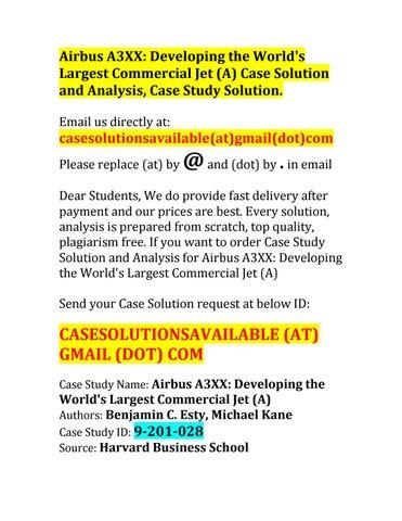 airbus a3xx case study analysis