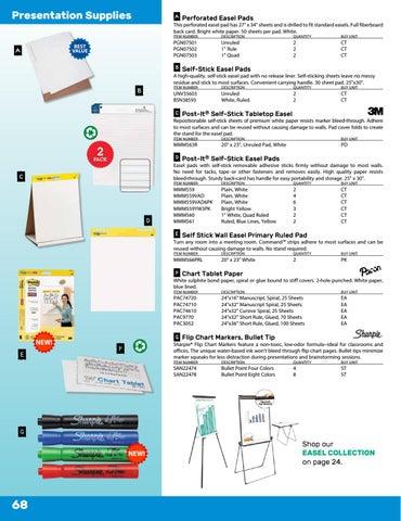 Page 80. Presentation Supplies