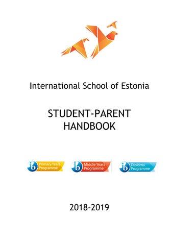 Student-Parent Handbook 2018 - 2019 by International School