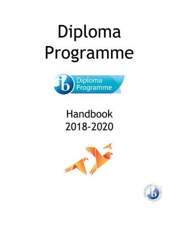 ISE IB Diploma Programme Handbook 2018 - 2020 by International