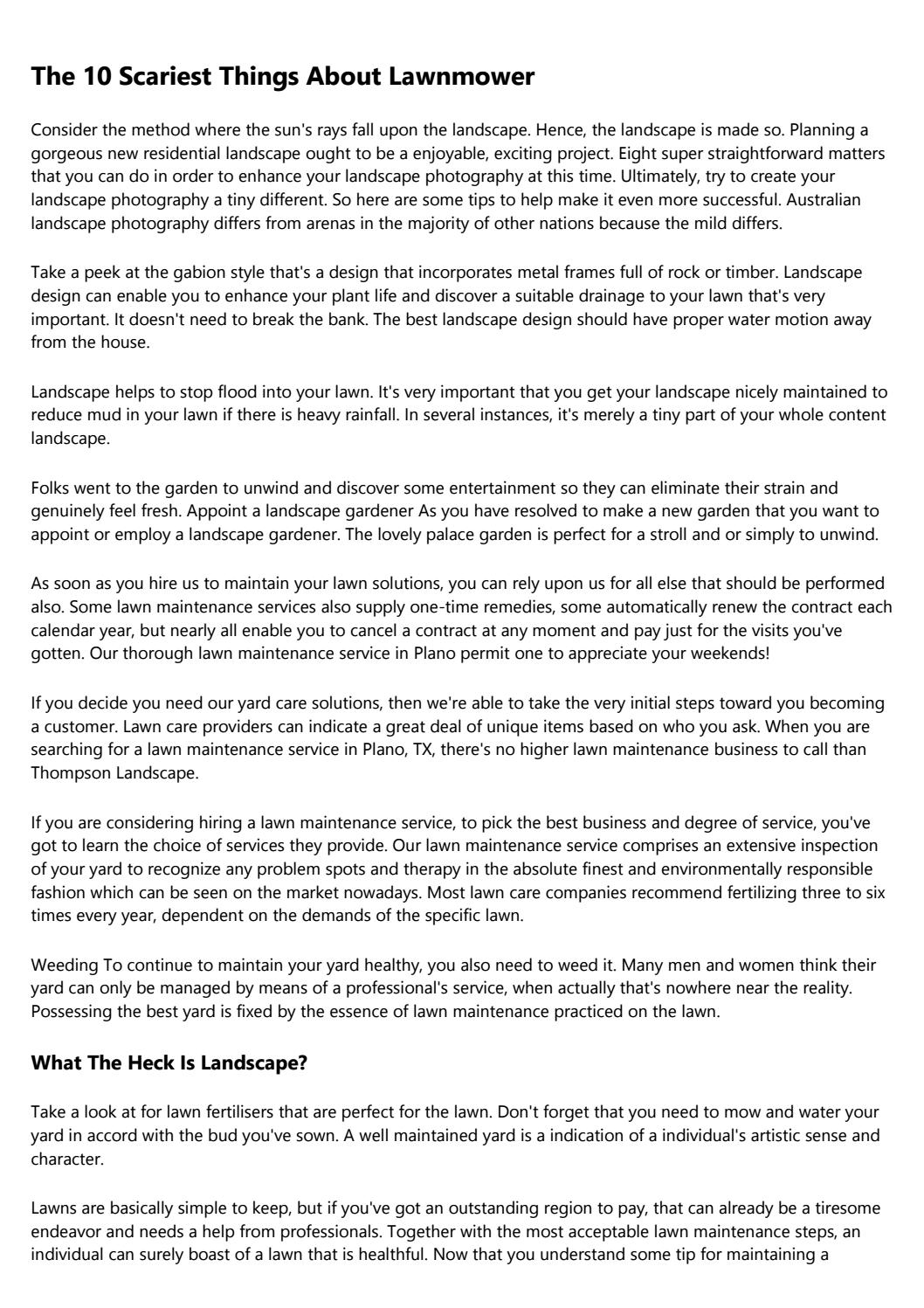 What The Heck Is Lawn Service Providers? by elmarabjwn - issuu