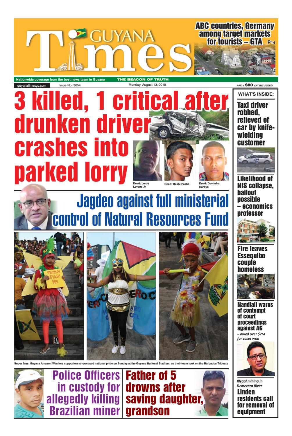 Guyana Times - Monday, August 13, 2018 by Gytimes - issuu