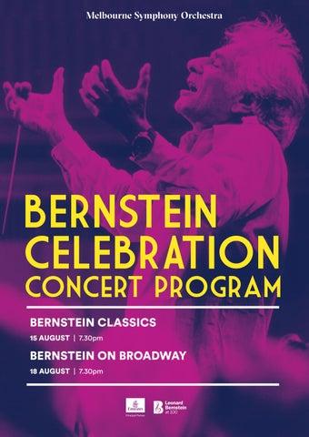 Bernstein Festival Program By Melbourne Symphony Orchestra Issuu