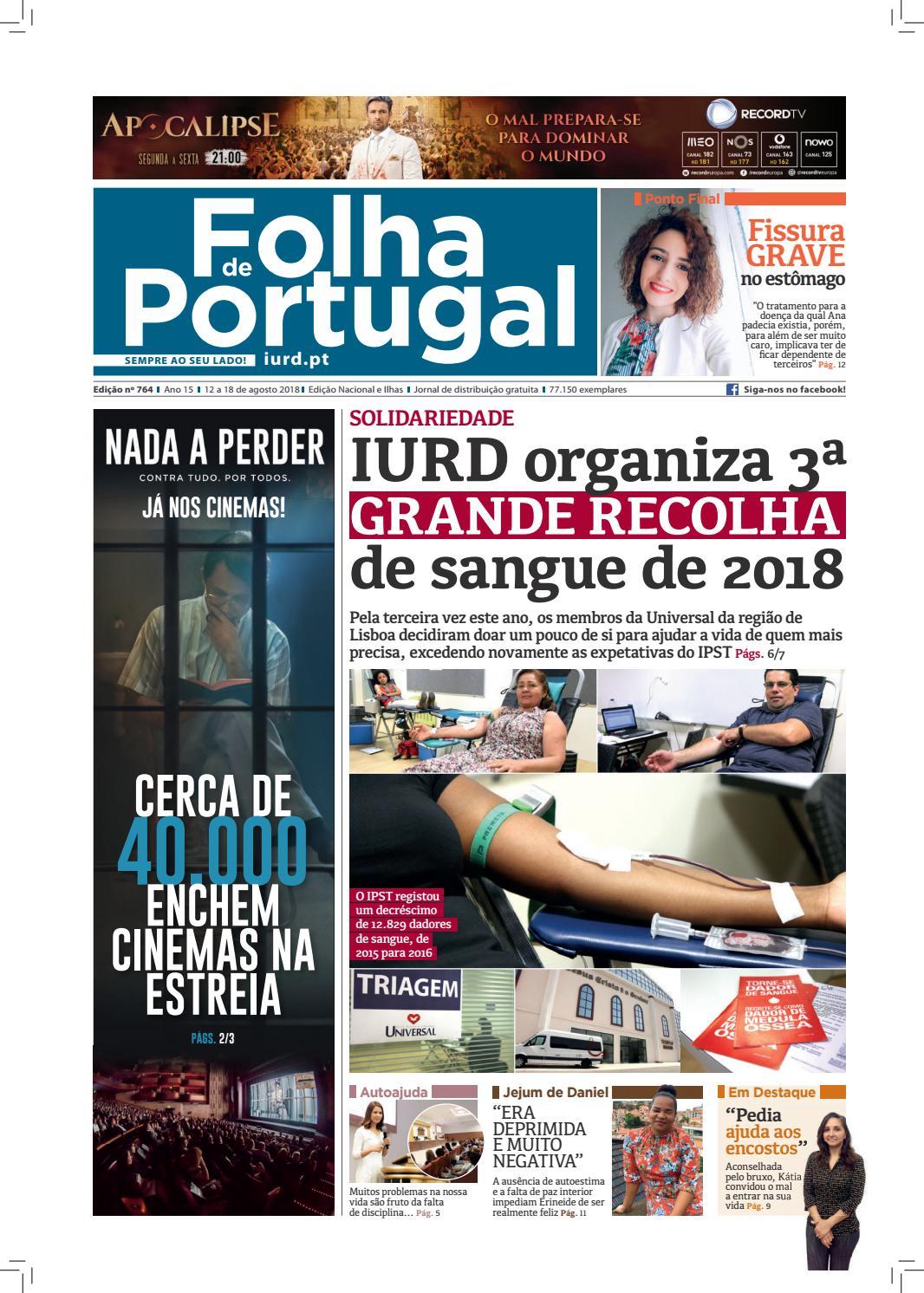 Folha De Portugal Edição 764 By Igreja Universal Issuu