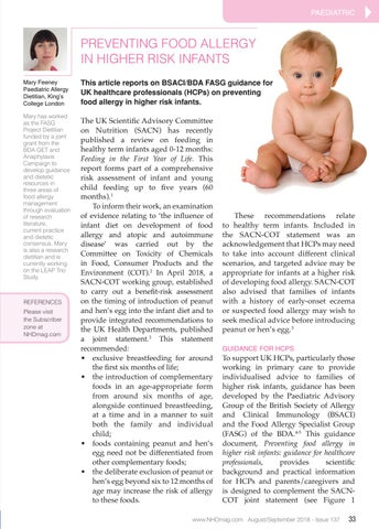 Birth Date May Influence Childs Risk >> Issue 137 Preventing Food Allergy In Higher Risk Infants By Nh