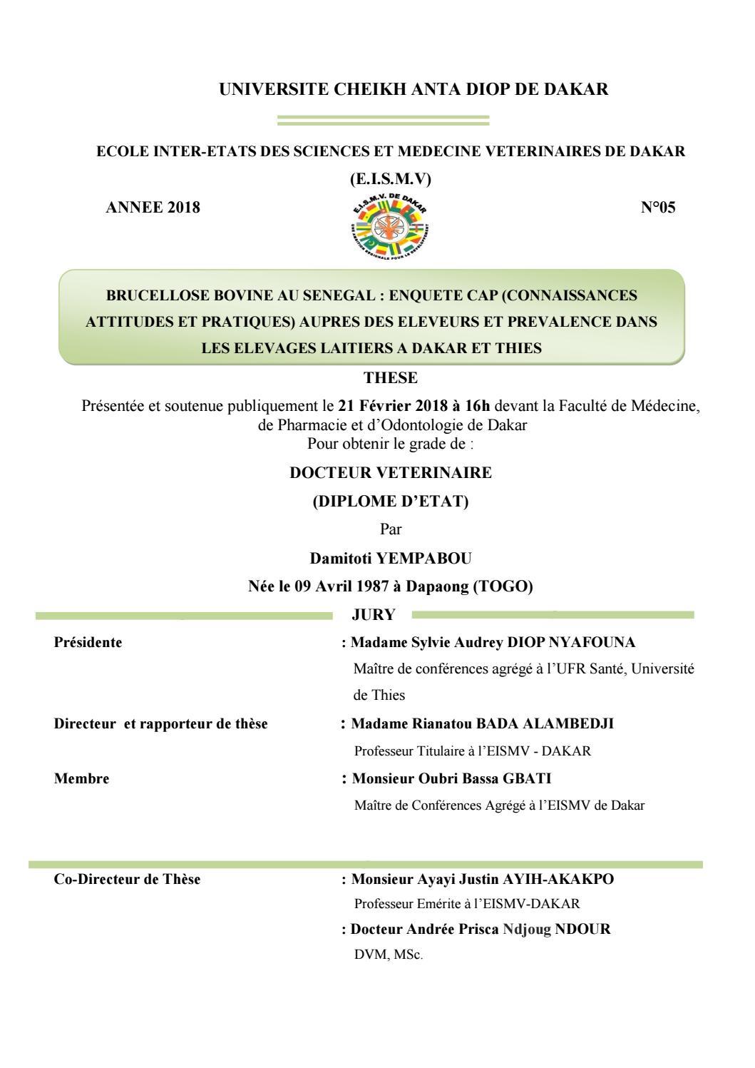 Inter By Ecole Yempabou Sciences Damitoti Etats Et Des Médecine v8mNnw0O