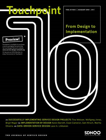 Touchpoint Vol 10 No 1 – From Design to Implementation by Service