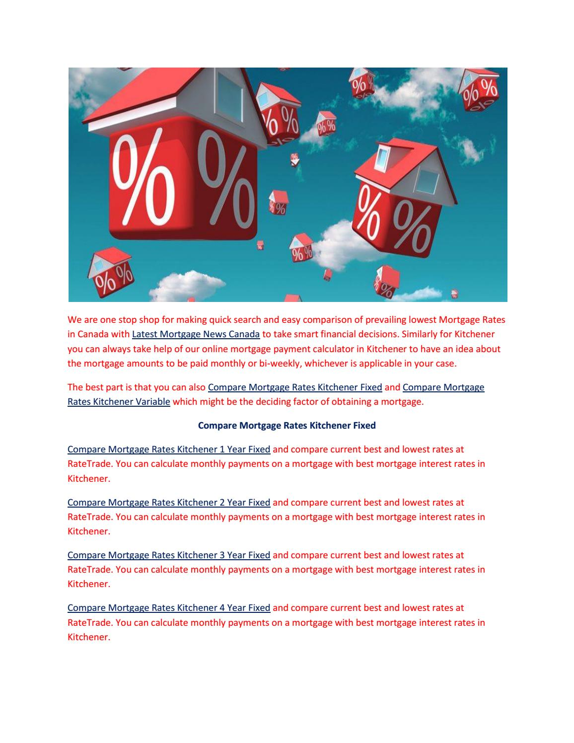 Mortgage Rates Kitchener by ratetrade.ca - issuu