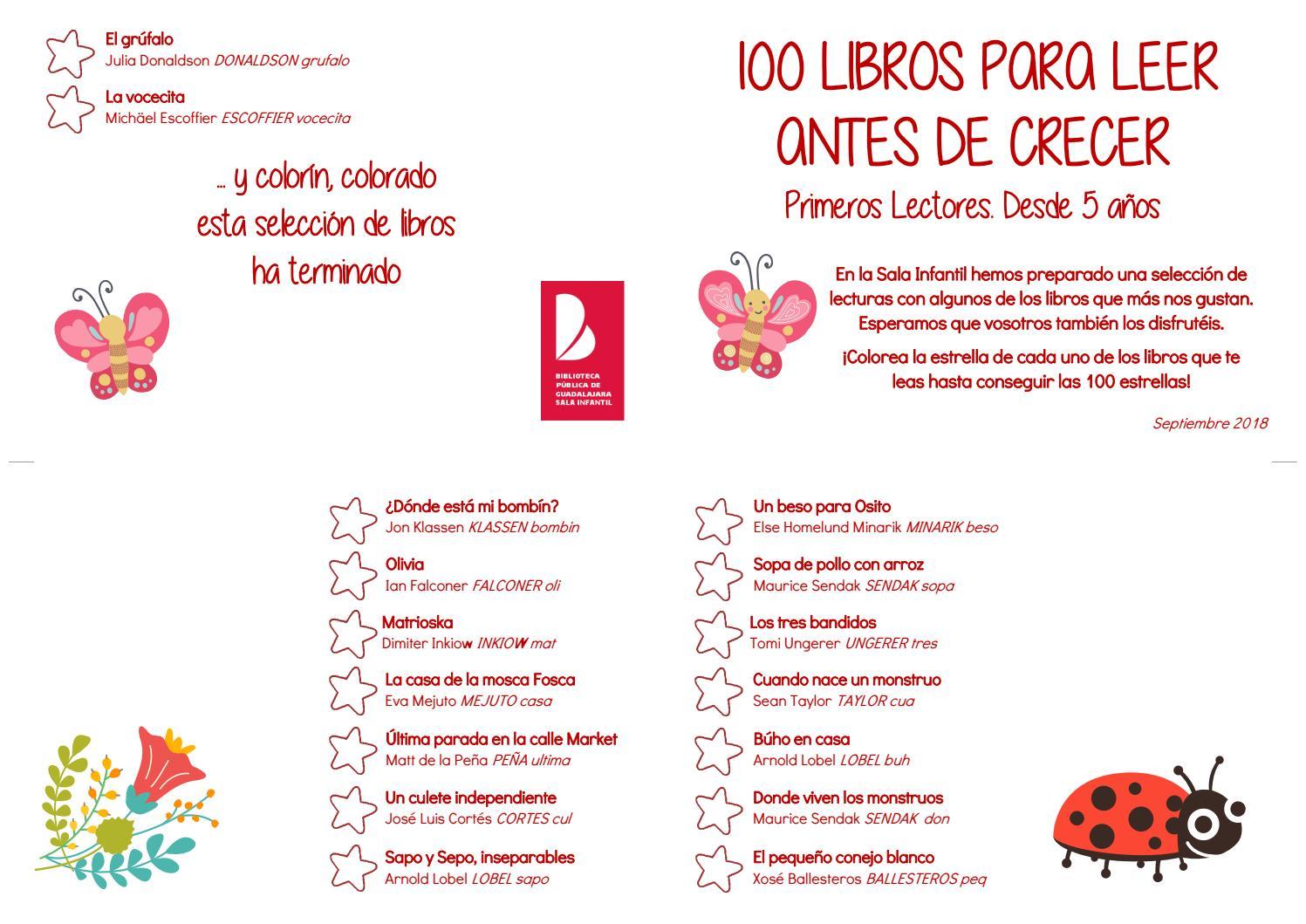 100 Libros Para Leer Antes De Crecer Primeros Lectores De