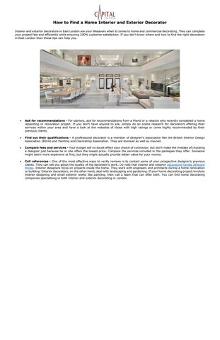 How To Find A Home Interior And Exterior Decorator By Capital Painter Issuu