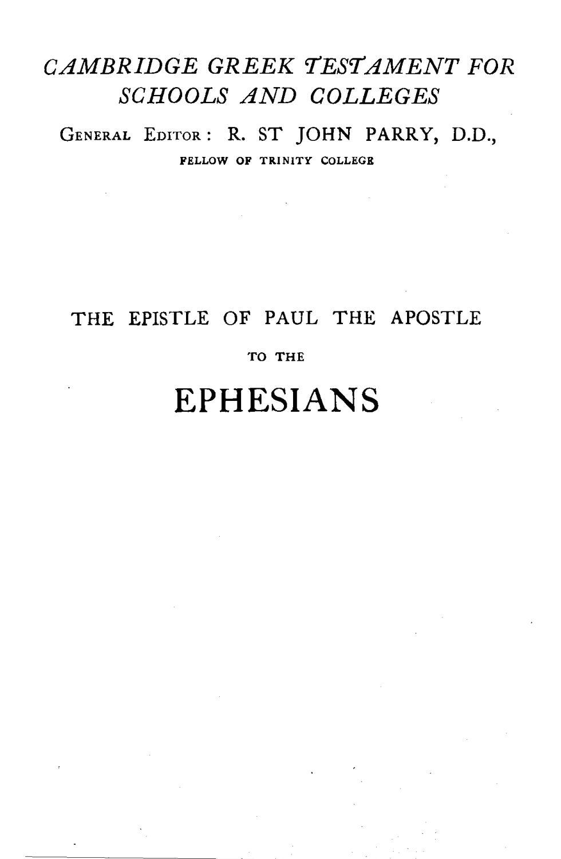 John Owen Farquhar [1858 1944] editor The Epistle of Paul