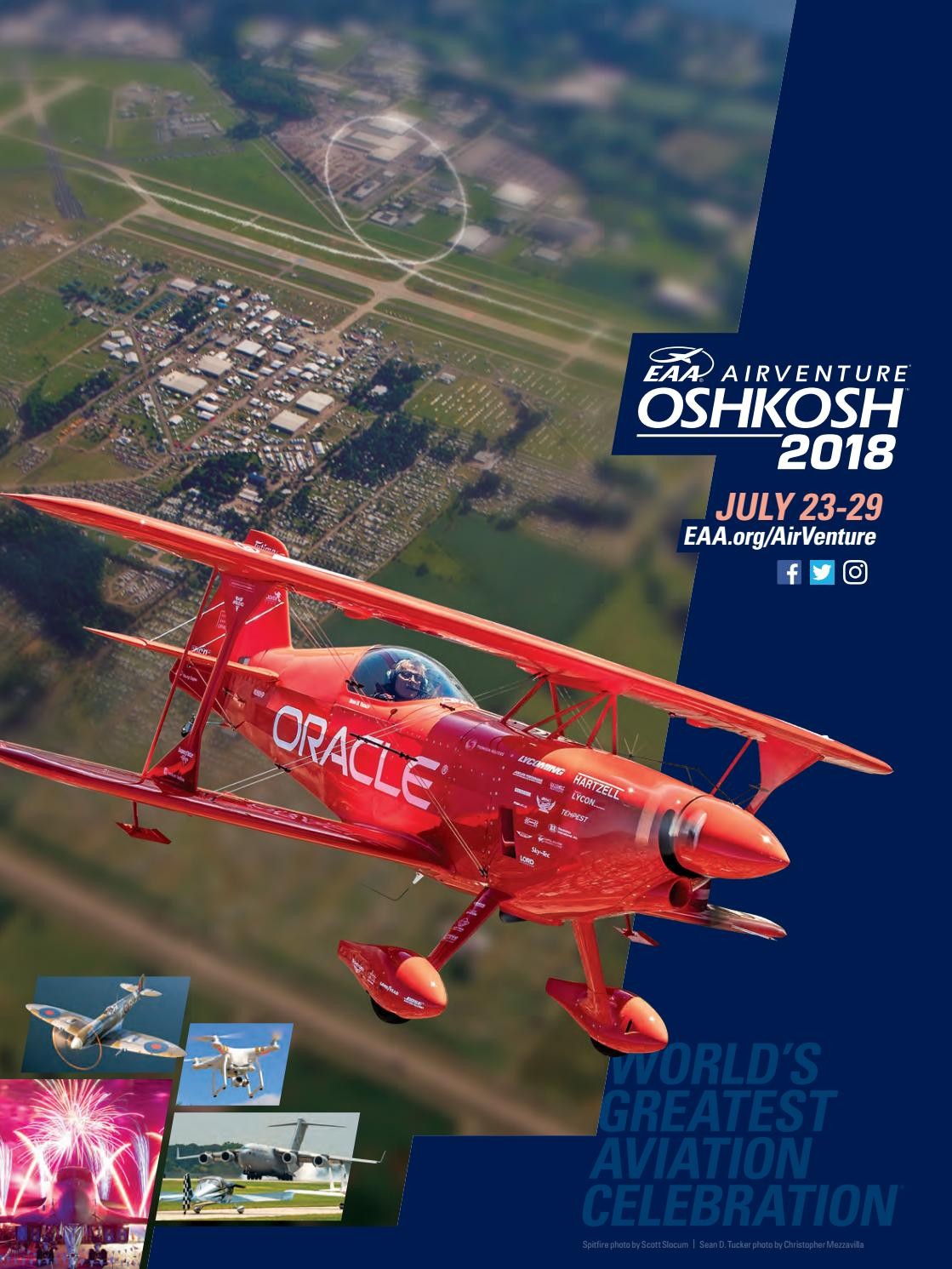 729b2bbbe5d7 EAA AirVenture Oshkosh 2018 Program by EAA  Experimental Aircraft  Association - issuu