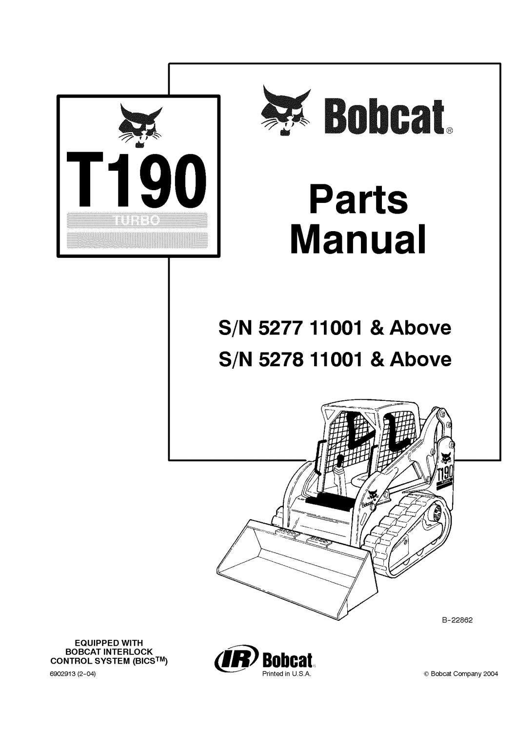 Bobcat Parts Diagram T190 Lift Arm - Wiring Diagram G11