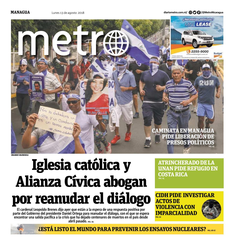 Edición del 13 de agosto de 2018 by Metro Nicaragua - issuu