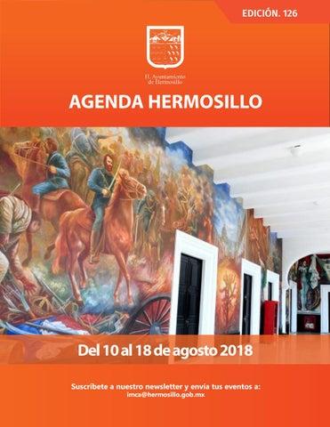 """Cover of """"Agenda Hermosillo #126 Agosto 10 2018"""""""