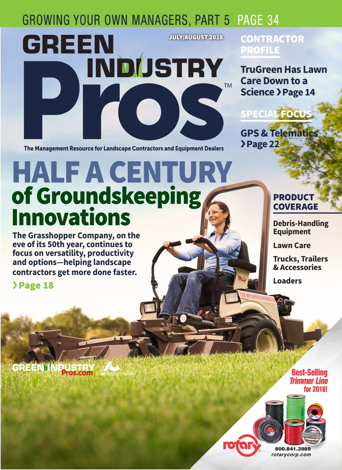Green Industry Pros July/August 2018 +Snow Pro No  1 by
