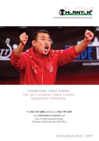 Thorntons Table Tennis Catalogue 2018-2019 by Mark Grosart - issuu