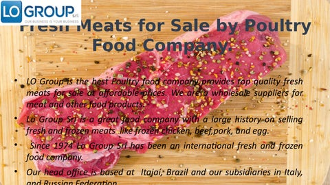 Fresh Meats for Sale by Poultry Food Company by Lo Group Srl - issuu