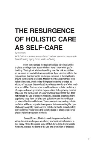 Page 7 of The Resurgence of Holistic Care As Self-Care