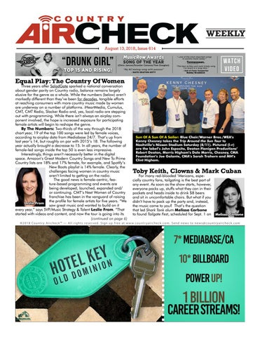 Issue 614 - August 13, 2018 by Country Aircheck - issuu
