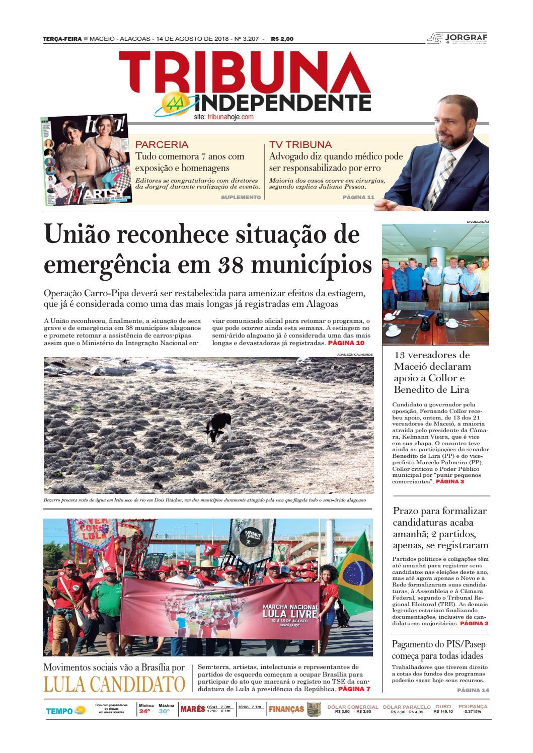 ad210dd3ca8 Edição número 3207 - 14 de agosto de 2018 by Tribuna Hoje - issuu