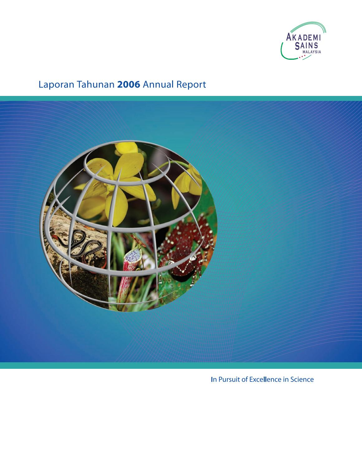 Asm Annual Report 2006 By Academy Of Sciences Malaysia Issuu