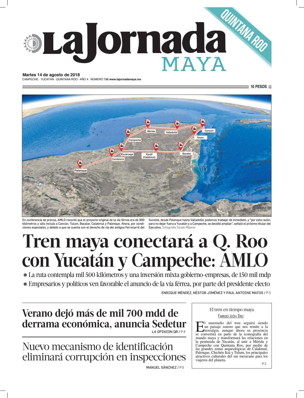 31a4d71ff7a2 La Jornada Maya · martes 14 de agosto de 2018 by La Jornada Maya - issuu