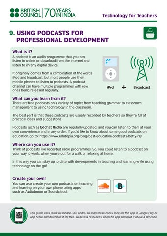 Technology for Teachers series: 9) Using podcast for professional