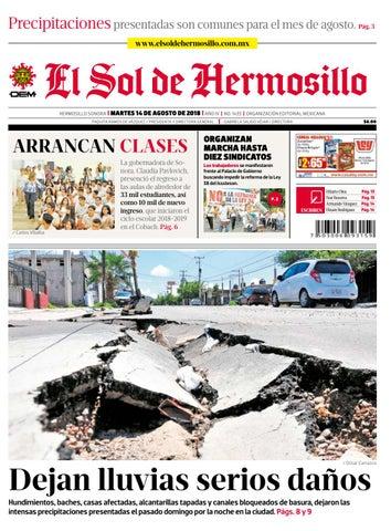 1bbc5273cab0 Edición impresa martes 14 de agosto 2018 by El Sol de Hermosillo - issuu