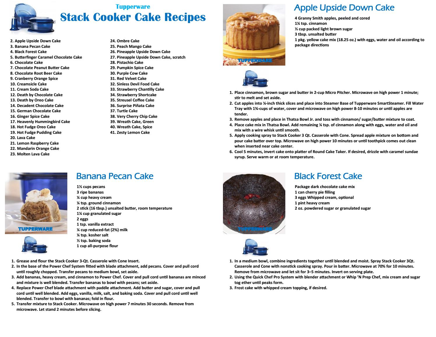 Tupperware Stack Cooker Cake Recipes By Tupperware By Jason Issuu