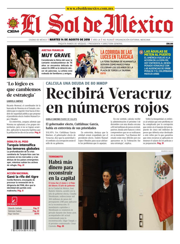 f7cdac83f9 El Sol de México 14 de agosto 2018 by El Sol de México - issuu