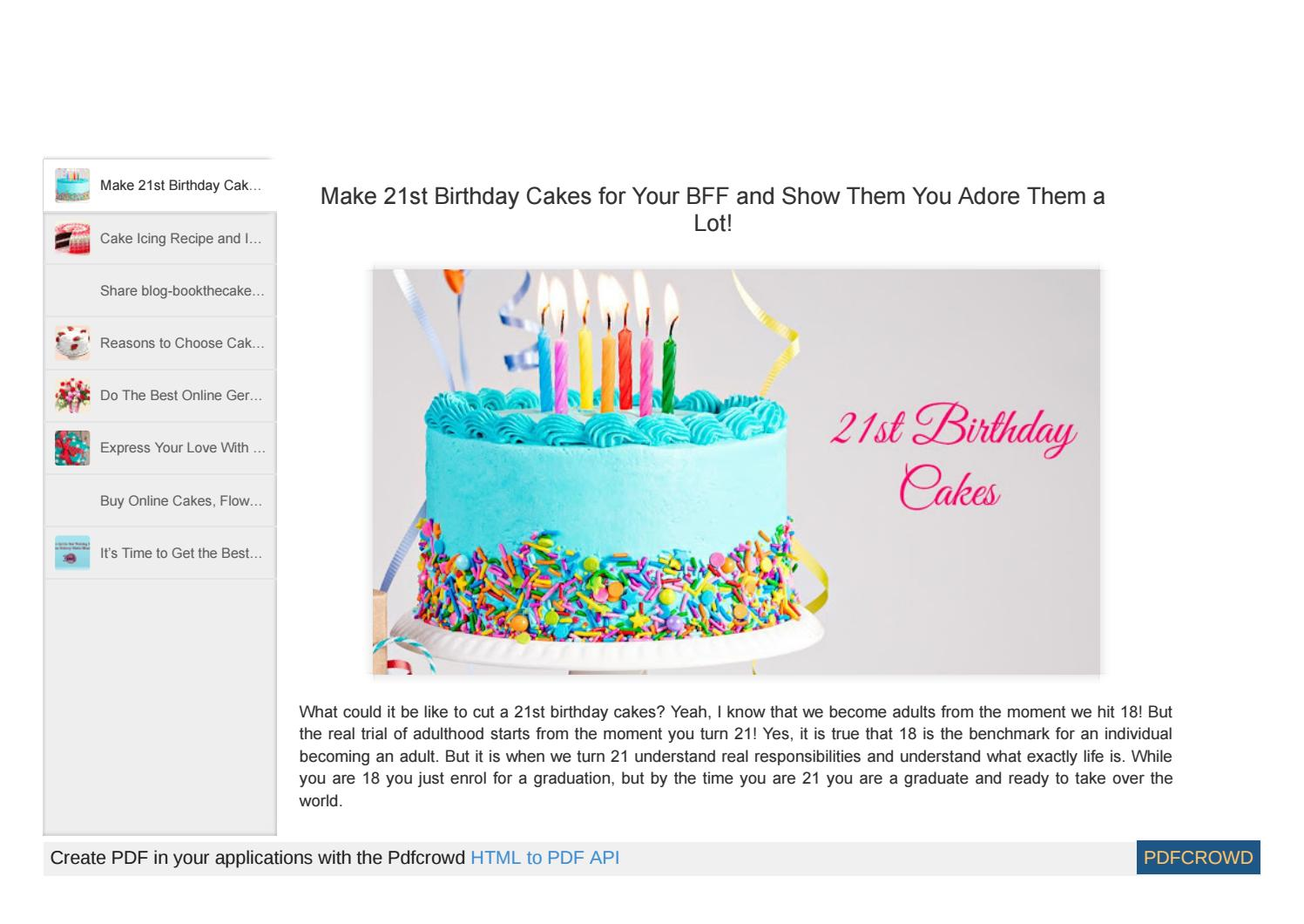 Wondrous 21St Birthday Cakes With A Very Easy Twist And Simple Method By Birthday Cards Printable Giouspongecafe Filternl