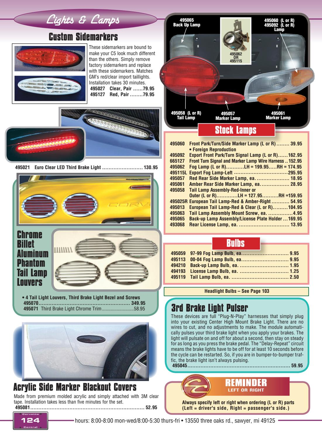 Corvette Central C5 97 04 Parts Catalog By Led Or Lamp Pulser Issuu