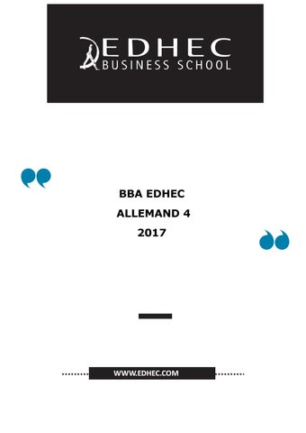 Bba4 Poly Allemand 201819 By Edhec2 Issuu