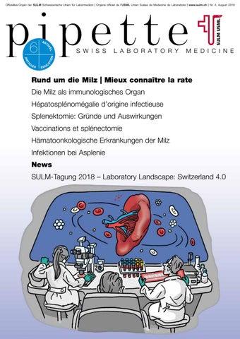 Pipette – Swiss Laboratory Medicine, Nr. 4 Rund um die Milz | Mieux ...